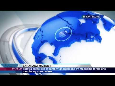 ÉDITION SPÉCIALE 17H DU 24 MARS 2020 BY TV PLUS MADAGASCAR