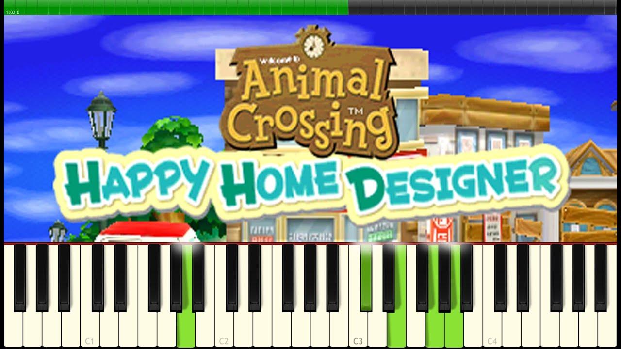 Animal Crossing Happy Home Designer Interior Designing Piano Youtube