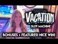 Awesome Run on Vacation! Slot Machine! BONUSES + Random Features!!