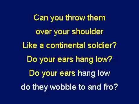 Do Your Ears Hang Low, Karaoke video with lyrics, Instrumental Version