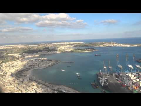 Landing Luqa International Airport (Malta) - A-320 Air Malta - Great View