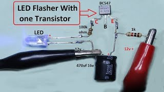 led flasher with single transistor