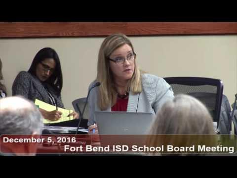 December 5, 2016 FBISD School Board Meeting Part 2