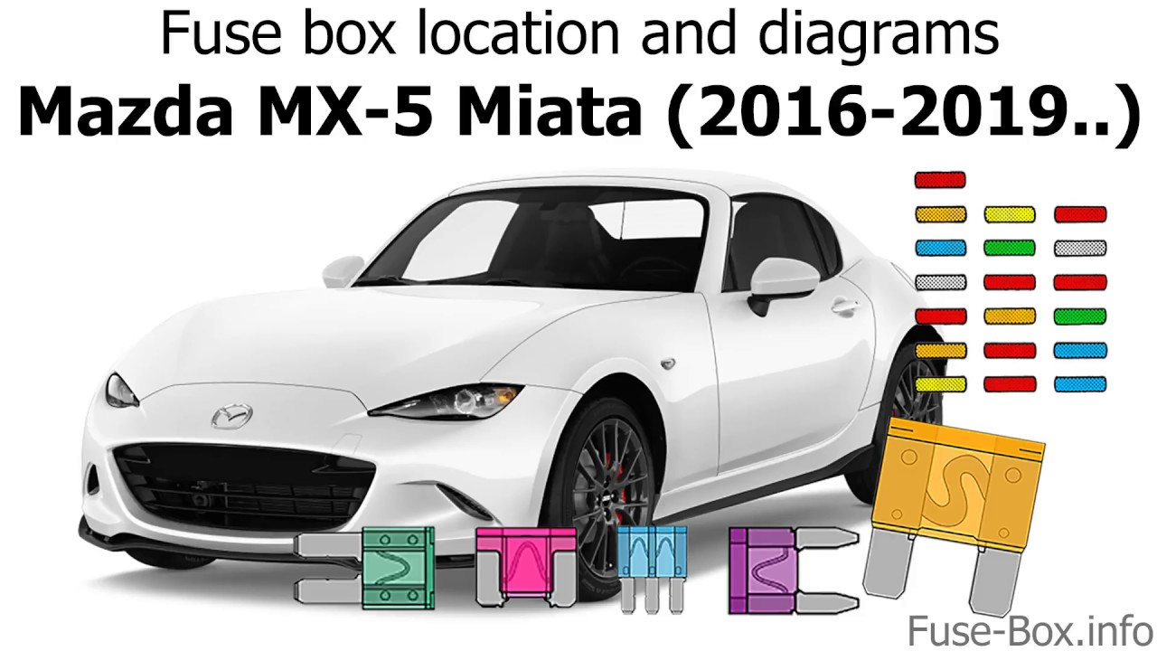 Fuse Box Location And Diagrams  Mazda Mx-5 Miata  2016-2019