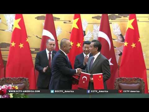 President Xi Jinping  meet Turkish Recep Tayyip Erdogan in Beijing