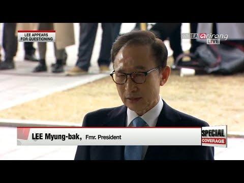 [Special Live] Fmr. President Lee Myung-bak subpoenaed