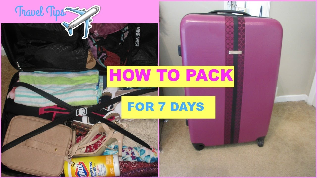 How To Pack For A 7 Day Cruise - YouTube