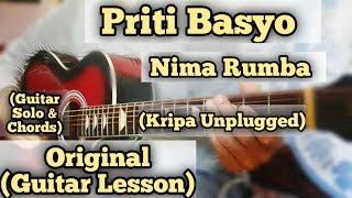 Priti Basyo - Nima Rumba | Guitar Lesson | Solo & Chords | Kripa Unplugged |
