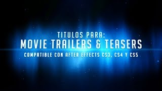 Proyecto para After Effects: Movie Trailers & Teasers