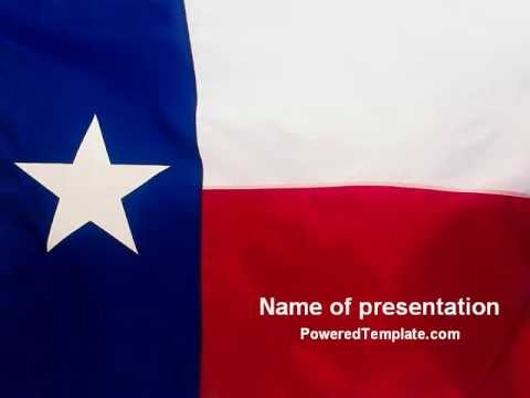 flag of texas powerpoint template by poweredtemplate com youtube
