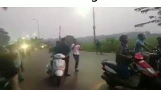 TRAFFIC POLICE FIGHT