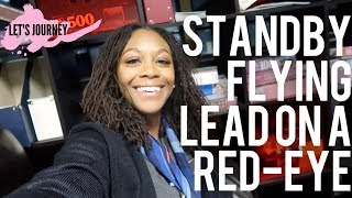 FLYING LEAD ON A RED EYE FLIGHT (ODAN) & SITTING STANDBY | Flight Attendant Vlog