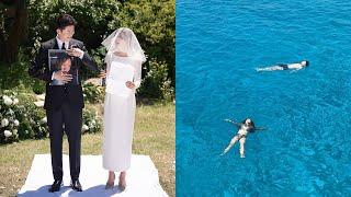 Eng. 셀프 야외 결혼식 + 시칠리아 신혼여행 VLO…