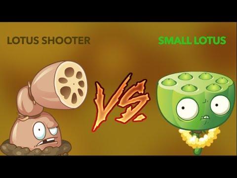 Lotus Shooter Vs Small Lotus ! - Plants Vs Zombies 2 Chinese Version