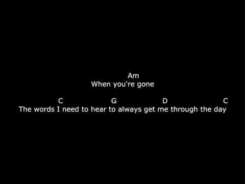 chord gitar avril lavigne when your gone
