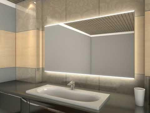 Badspiegel Mit Led Beleuchtung Gunnel Youtube