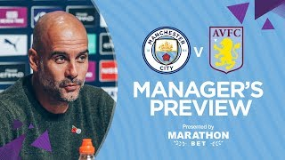 PRESS CONFERENCE | Pep Guardiola | Man City v Aston Villa