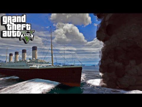 GTA 5 Titanic Mod Vs Tornado Mod (GTA 5 Funny Moments)