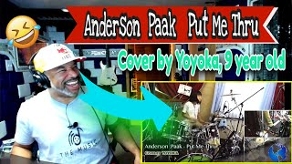 Anderson Paak Put Me Thru Cover by Yoyoka, 9 year old - Producer Reaction