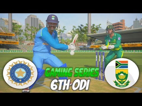 INDIA vs SOUTH AFRICA 2018 6TH ODI - ASHES CRICKET 17 (GAMING SERIES)