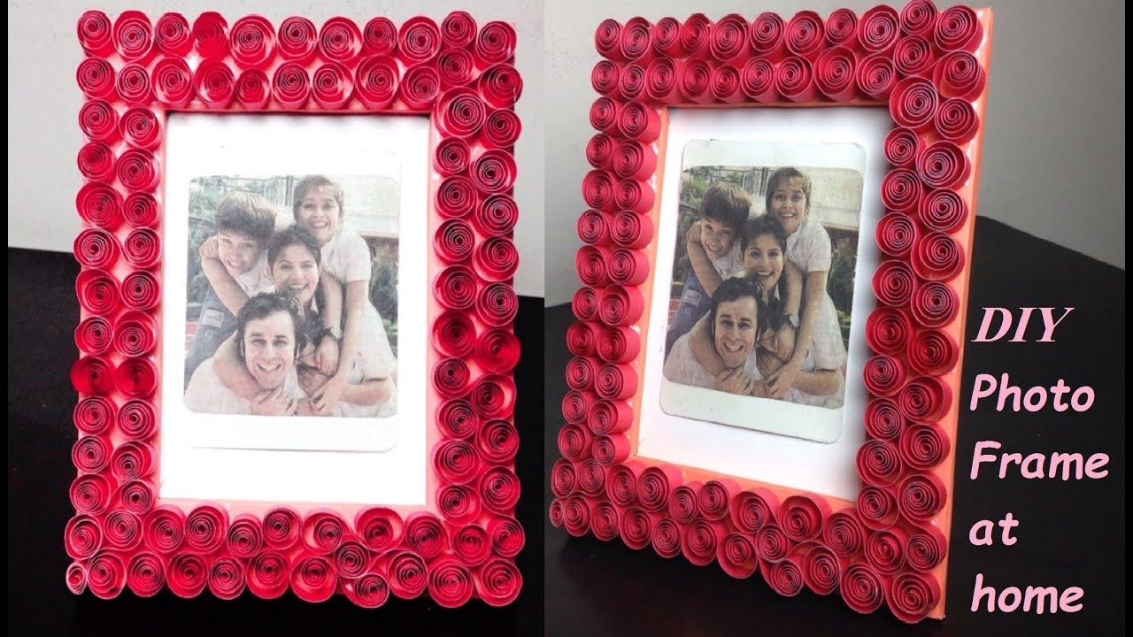 How to Make Photo Frame at home | Cardboard Photo Frame Idea | - YouTube