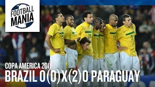 Worst Penalty Shoot-Out Sequence Ever | Brazil X Paraguay - Copa America 2011