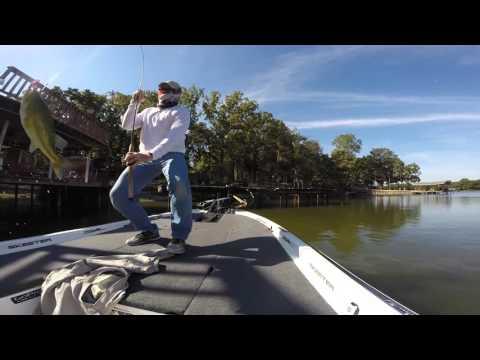 Cedar Creek Lake Dock Fishing Fall 2015