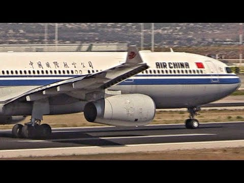 Air China Airbus A330-300 Taxi & Takeoff from Athens Airport | Close Plane Spotting | Airside Tour