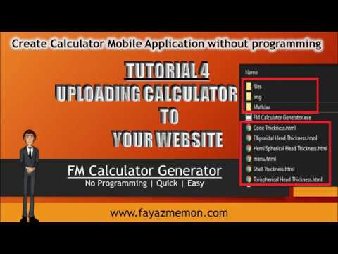 Tutorial 4-Uploading Calculator files to your website thumbnail