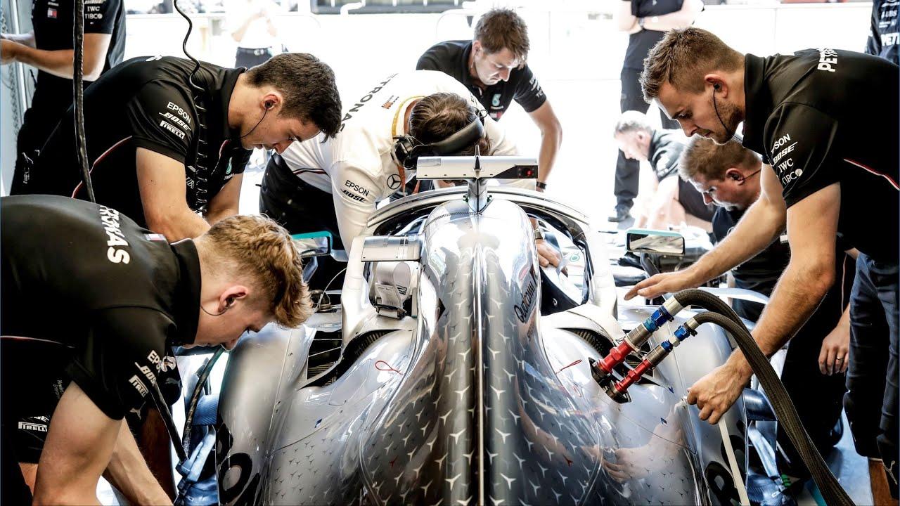 Mecánicos Mercedes Fórmula 1