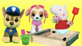 Juguetes paw patrol y peppa pig español:Chase y bebes buscan a pepa en parque.Nuevo capitulo 2018