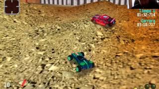 Jugando Re-volt, juego de carreras de PC