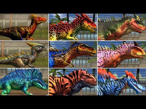 ALL RARE & SUPER RARE CARNIVORE DINOSAURS. All Evolution, All Max Level 40 | Jurassic World The Game |