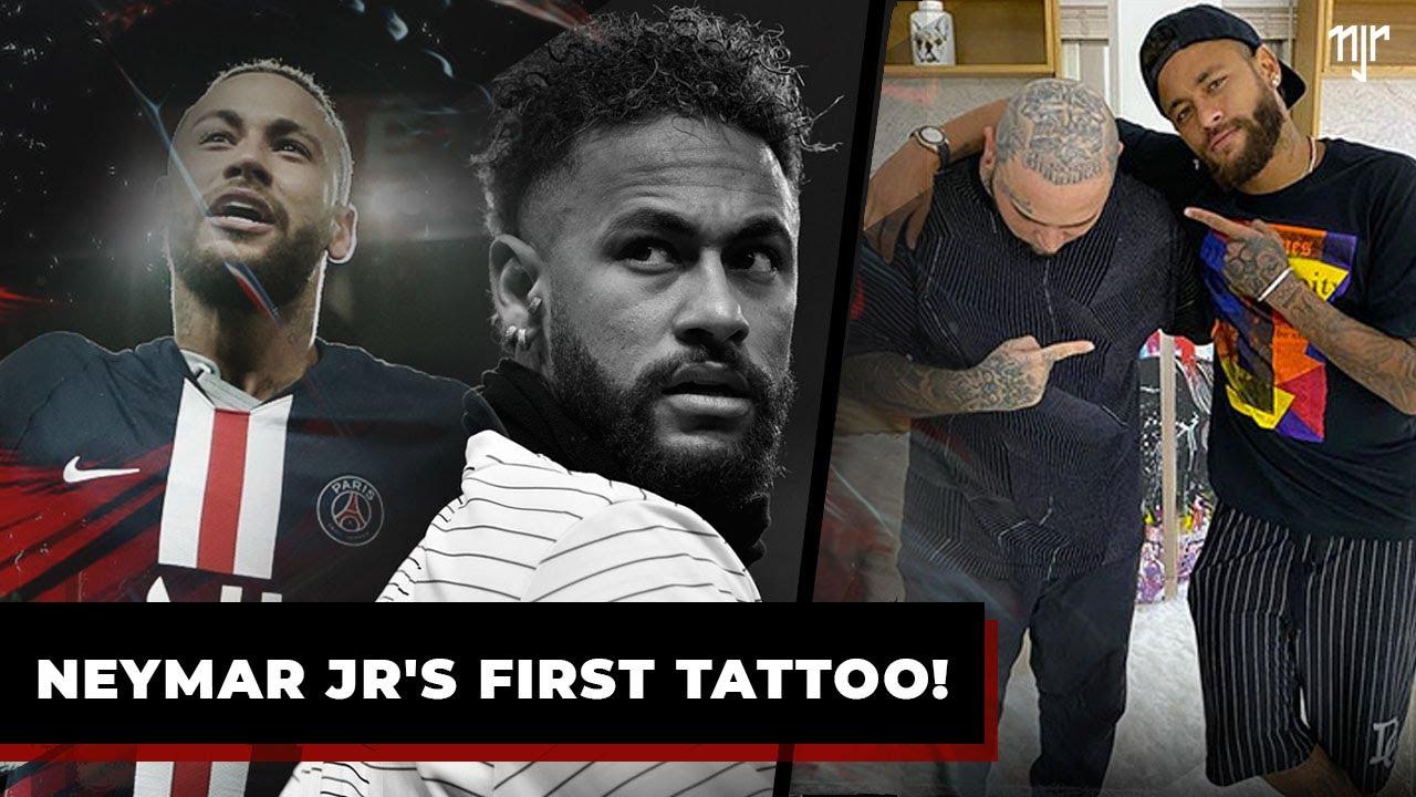 A primeira tatuagem de Neymar Jr!