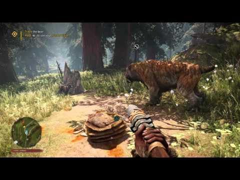 Far Cry Primal gameplay: Bear hunting with my saber tooth tiger 1080P
