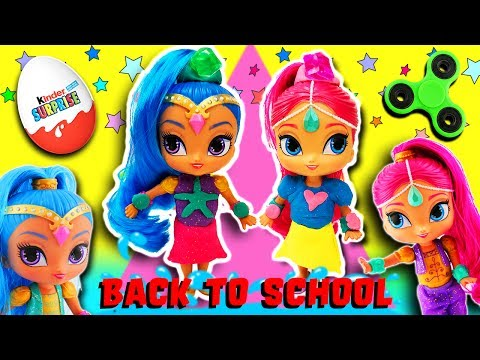 Shimmer and Shine Play-Doh Dress Up Party Fidget Spinner Game! Learn Colors & Toy Surprises!