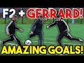 Steven GERRARD F2Freestylers EPIC Shooting Session AMAZING GOALS