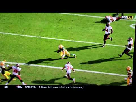 Aaron Rodgers dives into the endzone against the Buccaneers only to have the TD overturned due to him 'giving himself up'-Week 6 2020