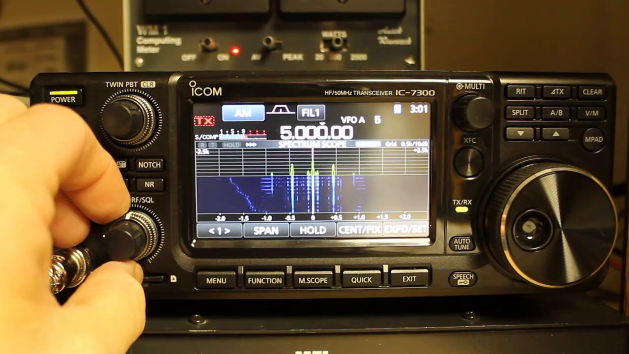 Icom IC-7300 Tips and Tricks - Checking Your Frequency Accuracy with WWV