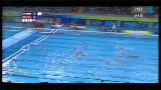 Peking 2008 vízilabda Olimpiai elődöntő:  Magyarország-Montenegró (részlet)