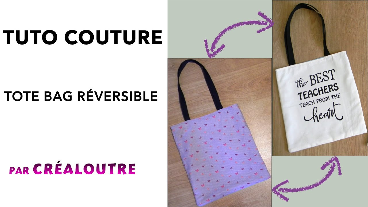 Connu TUTO Tote bag réversible_FACILE - YouTube IJ44