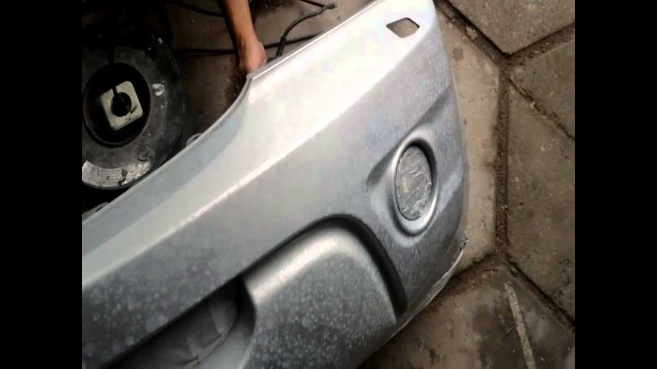 Лак на авто покрылся пятнами при попадании воды