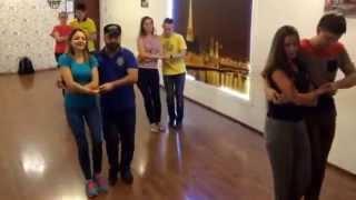 Бачата видео урок - начинающая группа 19.10.2015