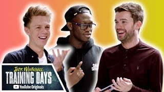 50/50 Football Quiz with Caspar Lee, Deji, F2Freestylers & More!! | Jack Whitehall: Training Days