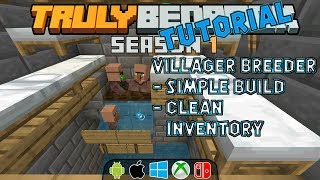 Villager Breeder Tutorial.  Clean villagers, super simple!  Truly Bedrock s1ep39