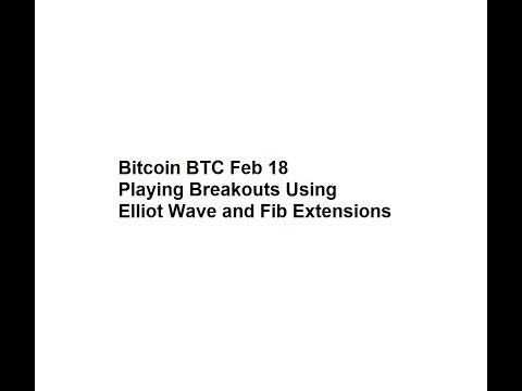 Bitcoin BTC Feb 18 Playing Breakouts Using Elliot Wave and Fib Extensions