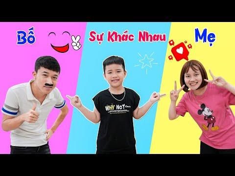 Sự Khác Nhau Giữa Bố Và Mẹ ♥ Min Min TV Minh Khoa