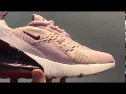 93538158ea39 WMNS Nike Air Max 270 Barely Rose Vintage Wine Elemental Rose White ...