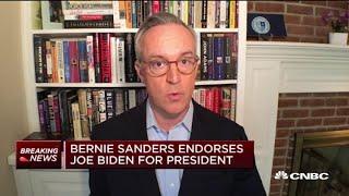 Bernie Sanders endorses Democratic presidential candidate Joe Biden