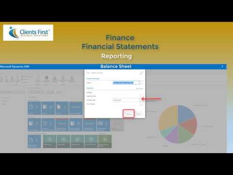 Dynamics NAV 2017  Financial Reports